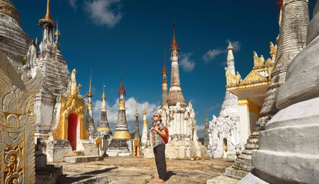 A Buddhist temple in Myanmar