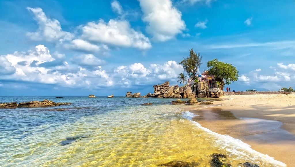 A beach on Phu Quoc Island, Viet Nam
