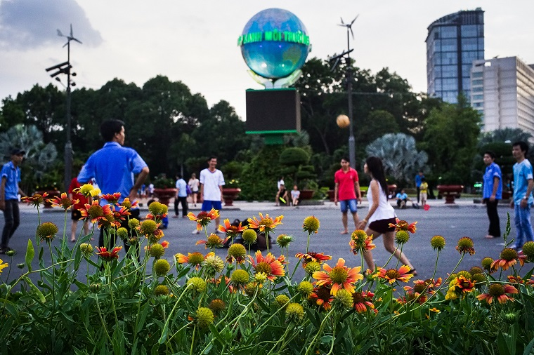 Parks and other green spaces provide both health and environmental benefits, making them a key element in making towns and cities more livable and climate-resilient. Photo: ADB.